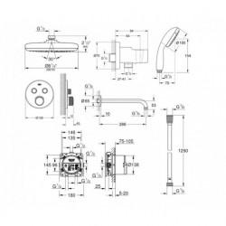 Душевая система GROHE EuroSmart, 34614SC4