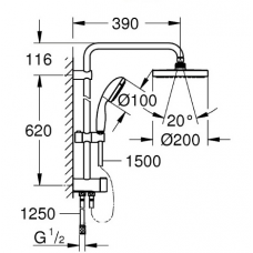 Душевая система Grohe New Tempesta System 200 27389002