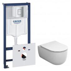Комплект: Инсталляционная система Grohe Rapid SL + подвесной унитаз Rostriks TRES