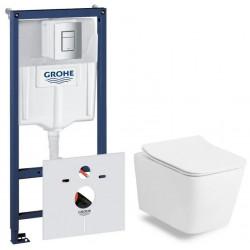 Комплект: Инсталляционная система Grohe Rapid SL + подвесной унитаз Rostriks UNO