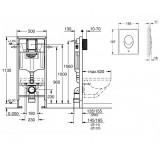 Инсталляция Grohe Rapid SL 3 в 1 для подвесного унитаза, 39503000