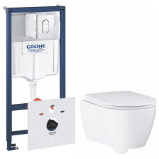 Комплект: Инсталляция Grohe RAPID SL 3 In 1 + Подвесной унитаз Essence Ceramic 39571CB0