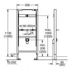 Инсталляционная система Grohe RAPID SL для писсуара, 38517001