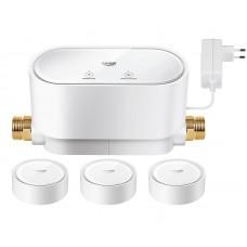 Комплект: Интеллектуальный контролер  воды Grohe Sense Guard  +  3 датчика Grohe Sense, 22502LN0