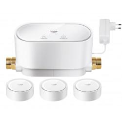 Комплект: Интеллектуальный контролер  воды Grohe SenseGuard  +  3 Датчика воды Grohe Sense  22502LN0