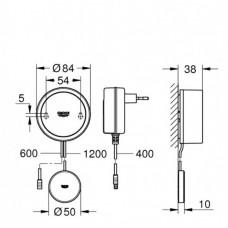 Комплект: датчик воды Grohe Sense + блок питания 230В 22507LN0