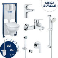 Набор для ванны Grohe Mega Bundle BauFlow (Bau Ceramic, Arena Cosmopolitan, BauFlow) 39418MB1
