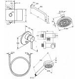 Душевая система скрытого монтажа 7в1 KLUDI Bozz 386300576 хром