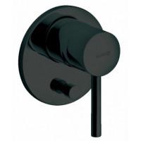 Внешняя часть смесителя для ванны и душа Kludi BOZZ 387163976 черный матовый