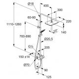 Душевая система с термостатом KLUDI COCKPIT Explorer 8005005-00