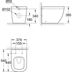 Унитаз пристенный Grohe Euro Ceramic 3933900H