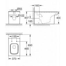 Чаша унитаза Grohe Cube Ceramic 3948400H