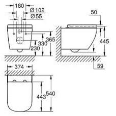 Унитаз подвесной Grohe Euro Ceramic 39554000
