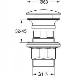 Донный клапан Grohe 40824000