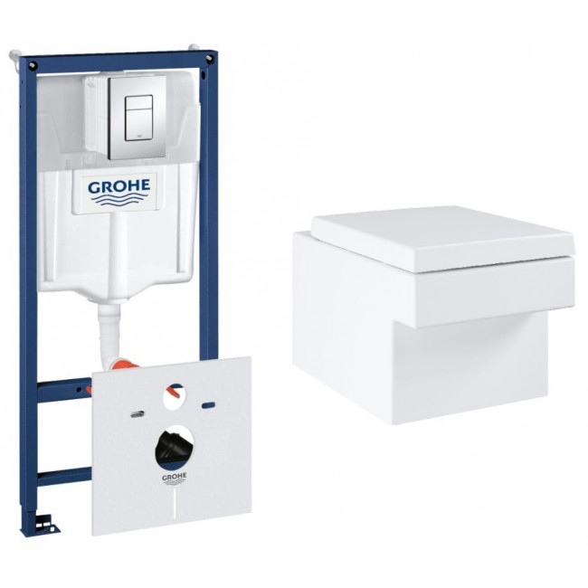 Комплект: Инсталляционная система Grohe Cube Ceramic 39244CB0