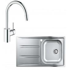 Кухонная мойка GroheEXSinkK400 +смесительConcetto (31570SD0)
