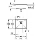 Кухонная мойка Grohe Sink K700 31726SD0