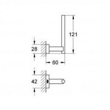 Держатель для туалетной бумаги Grohe Essentials Cube 40623001