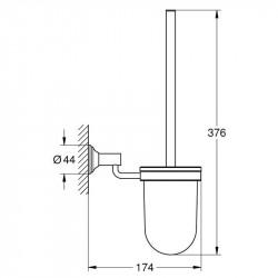 Туалетный ершик Grohe EX Essentials Authentic 40658001 в комплекте
