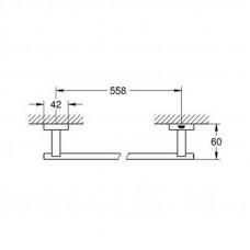 Полотенцедержатель Grohe Essentials Cube 40509001