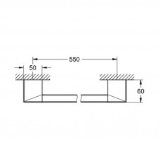 Полотенцедержатель Grohe Selection Cube 40807000