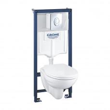 Инсталляция с унитазом Grohe Solido Compact комплект 4 в 1 39400000