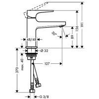 Смеситель для раковины Hansgrohe Metropol с донным клапаном Push-Open Brushed Bronze 32500140