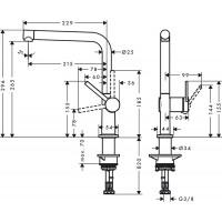 Смеситель Hansgrohe Talis M54 для кухонной мойки 72840000