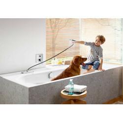 Шланг для душевой лейки Hansgrohe SBox Square 1,45 м врезной в борт ванны Brushed Black 28010340