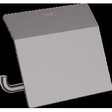 Держатель туалетной бумаги Hansgrohe AddStoris 41753340 с крышкой, черный матовый хром