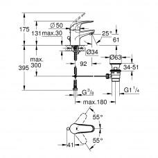 Набор смесителей GROHE Euroeco 123232S (23262000 + 32740000 + 27598000)