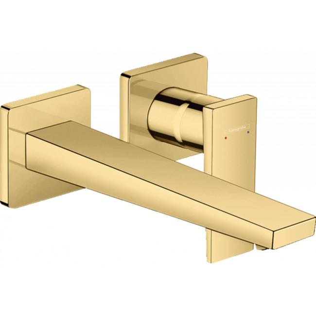 Смеситель для раковины настенный Hansgrohe Metropol Polished Gold Optic 32526990