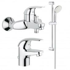 Набор смесителей  для  ванны GROHE Euroeco 123226S (23262000+32743000+27853000)
