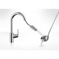 Кухонный смеситель Hansgrohe Focus с выдвижным душем Matt Black 31815670