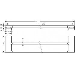 Двойной держатель для банных полотенец Hansgrohe AddStoris 41743140 бронза матовый