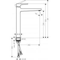 Смеситель для раковины Hansgrohe Metropol Matt White 32512700