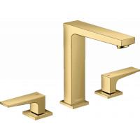 Смеситель для раковины на 3 отверстия Hansgrohe Metropol Polished Gold Optic 32515990