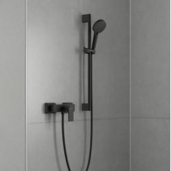 Душевая система Hansgrohe Vernis Shape Showerpipe 230 1jet Reno EcoSmart 26289670 черный матовый