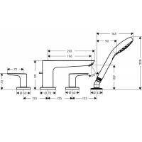 Смеситель для ванны Hansgrohe Talis E на 4 отверстия Brushed Black 71748340
