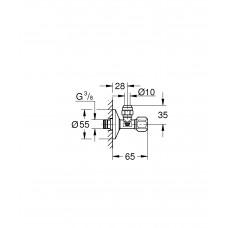 Угловой вентиль Grohe 22052000