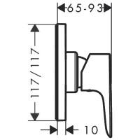 Смеситель скрытого монтажа для душа Hansgrohe Talis E mini E 71764000