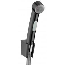 Гигиенический душ Hansgrohe со шлангом 125 см и держателем Brushed Black Chrome 32129340