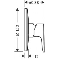 Смеситель скрытого монтажа для душа Hansgrohe Talis E mini S 71766000