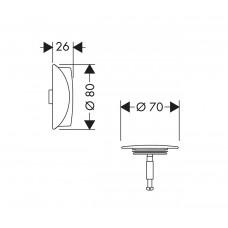 Внешняя часть сифона для ванны Hansgrohe Flexaplus Matt Black 58185670