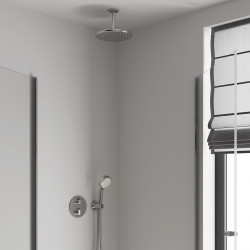 Верхний душ с кронштейном Grohe Tempesta Cosmopolitan 250 с EcoJoy хром 26669000