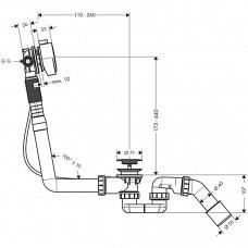 Сифон для ванны с наполнением Hansgrohe Exafill S 58113000