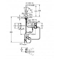Смеситель кухонный сенсорный для мойки Grohe К7 FootControl 30312000