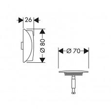 Внешняя часть сифона для ванны Hansgrohe Flexaplus Brushed Black 58185340