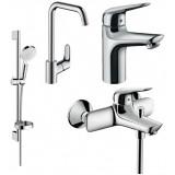 Набор смесителей для ванны 4 в 1 Hansgrohe 1162019