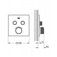 Термостат для встраиваемого монтажа на 2 выхода Grohe Grohtherm SmartControl 29124AL0